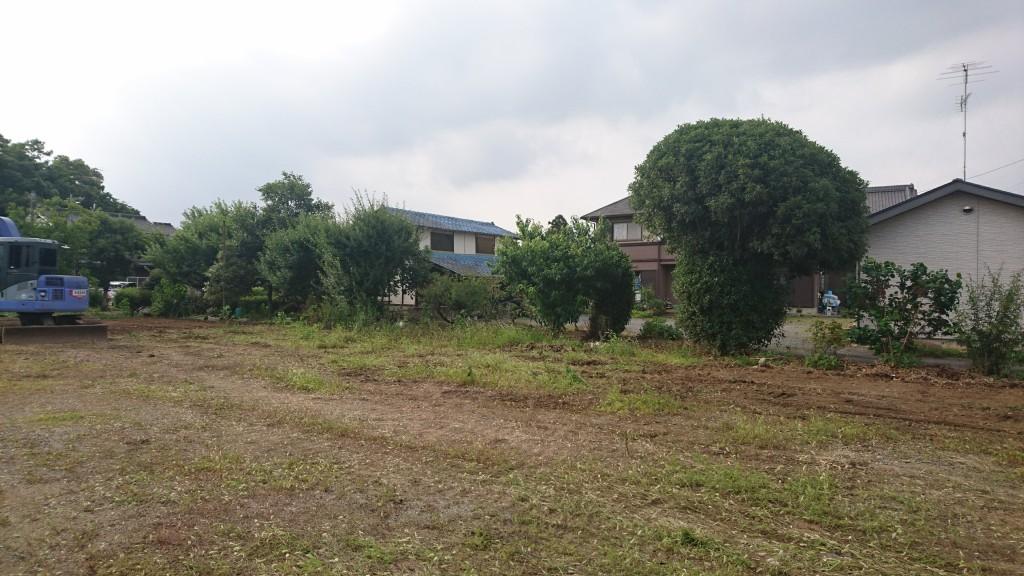 茨城県古河市内建物解体終了!ここには平屋が新築予定!