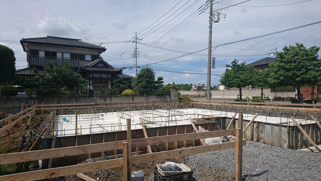 茨城県「総タイル張り」の注文住宅、来週古河市に上棟予定!