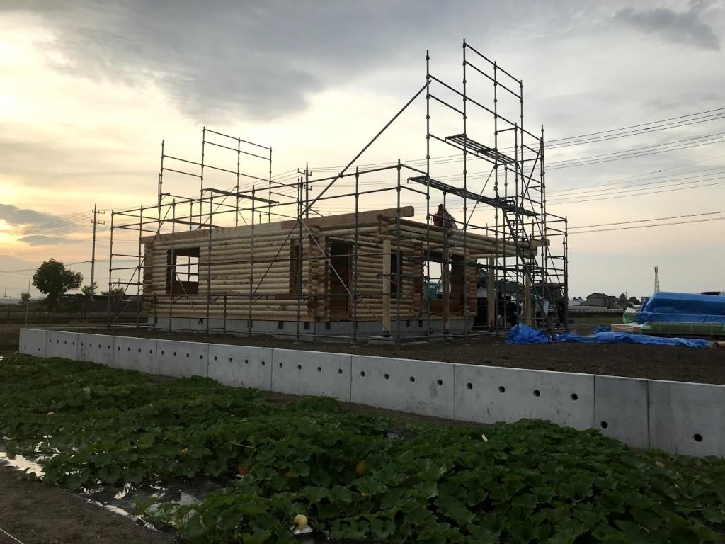 栃木県真岡市 注文住宅 ログハウス 建方