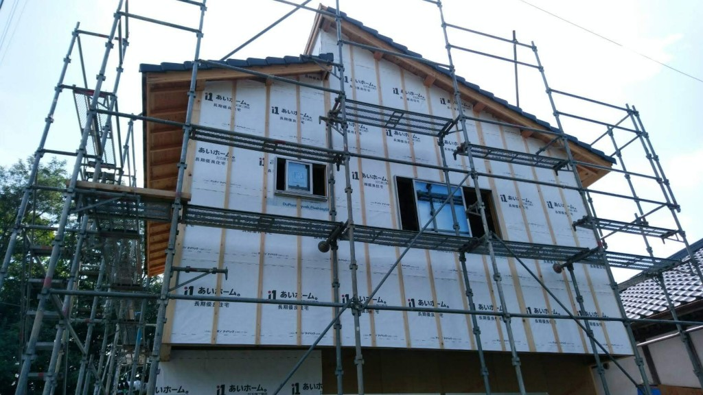 茨城県注文住宅、桜川市真壁町にて増築工事進行中です!