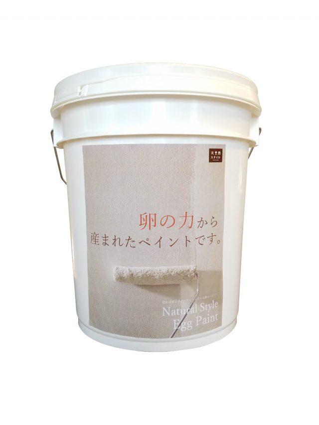 1缶に卵殻160個ぶんを再利用し、調湿性もたせた内装用塗料を発売する