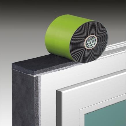 サッシ枠に簡単貼るだけ、防水気密シーリングテープ