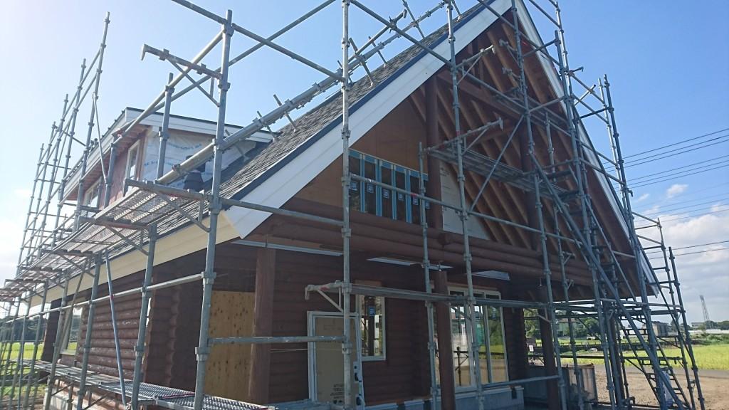 栃木県真岡市「木の家」ログハウスの注文住宅