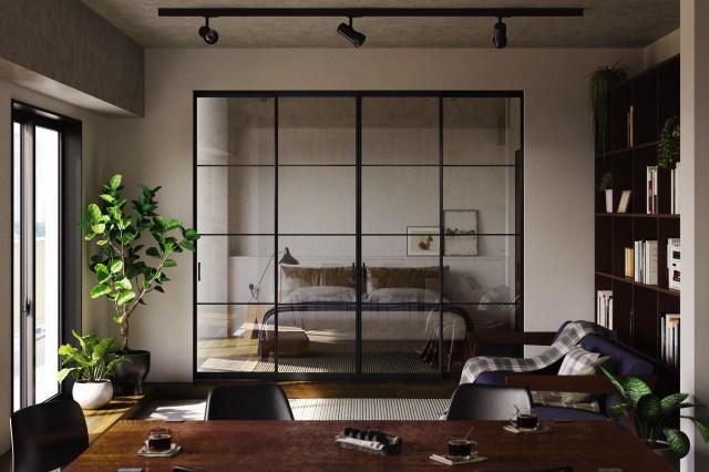 YKKAPから、アルミフレーム+全面ガラスの間仕切りが発売
