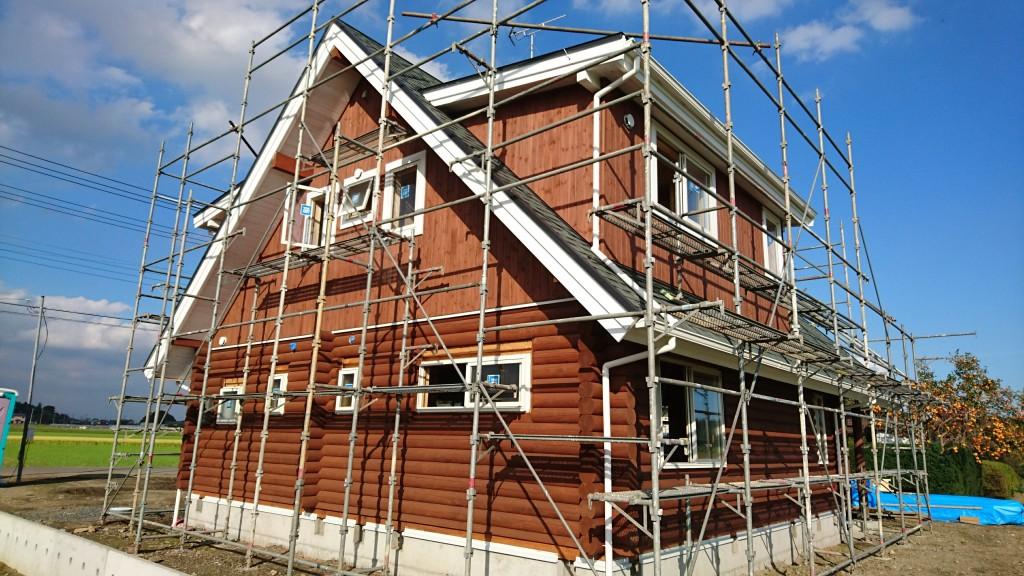 栃木県「木の家」ログハウス注文住宅、順調に進行してます!