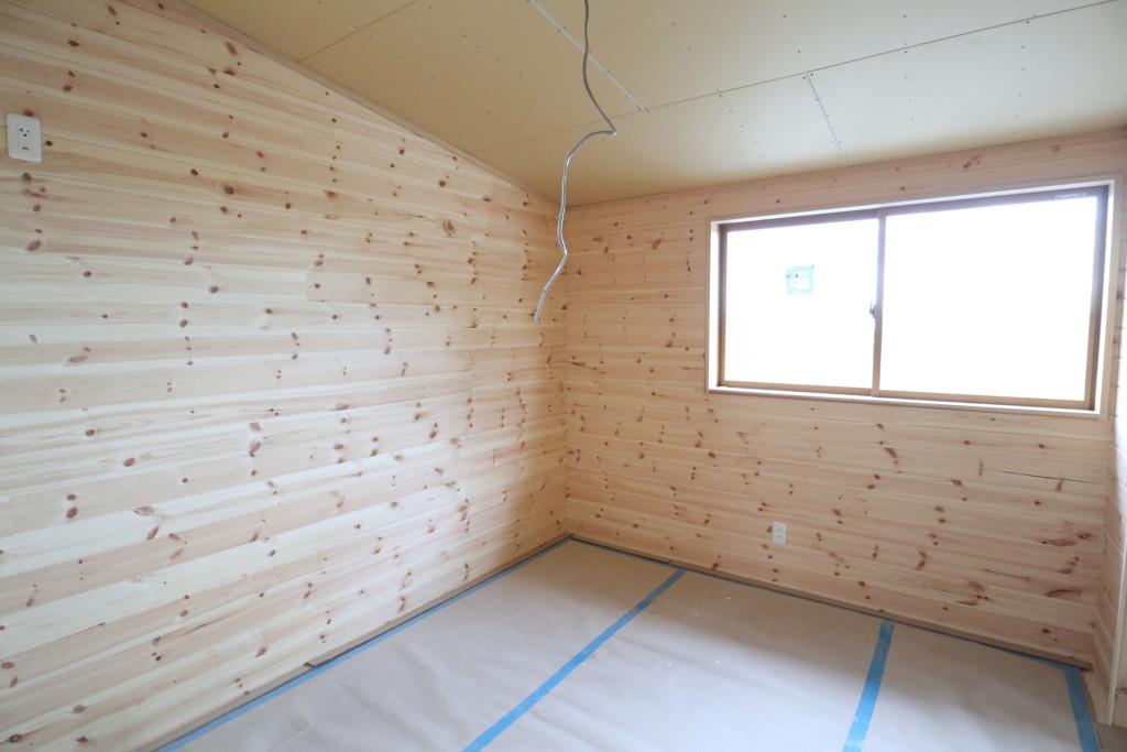 栃木県「ログハウス」木の家、注文住宅間もなく完成!
