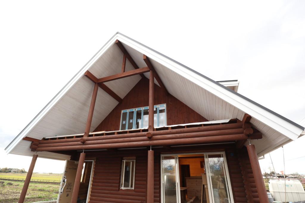 栃木県真岡市注文住宅、木の家「ログハウス」