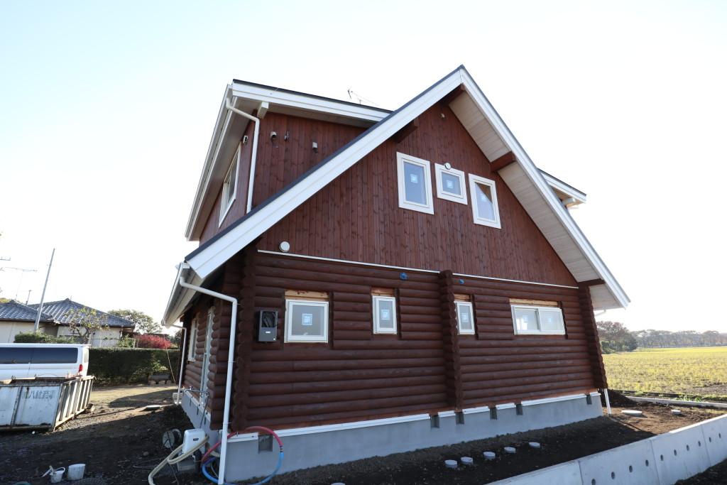 栃木県真岡市の注文住宅「ログハウス」
