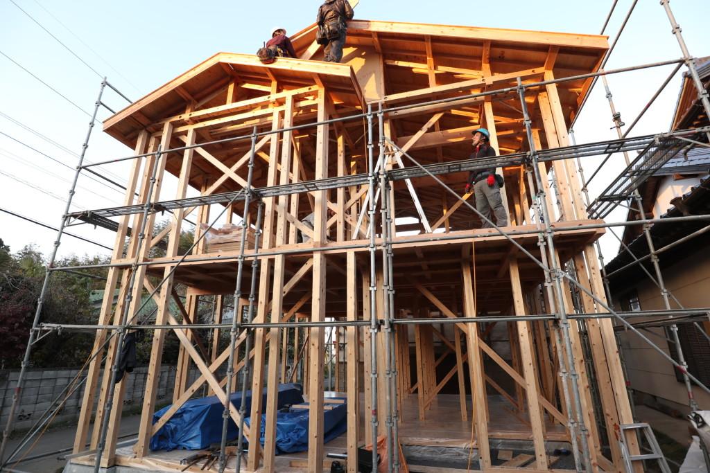 茨城県筑西市注文住宅、上棟しました!