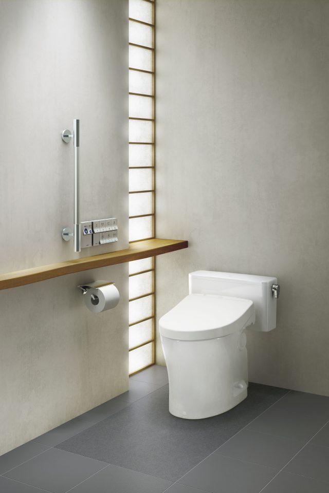 TOTOから、便器下の臭い・尿シミ対策になる陶器製の床材を発売