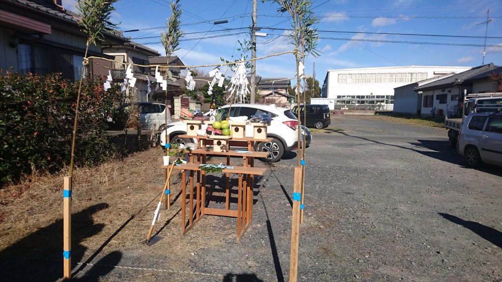 茨城県筑西市内にて地鎮祭を行いました!