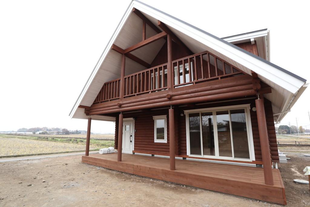 栃木県注文住宅「ログハウス」、完了検査終了しました!