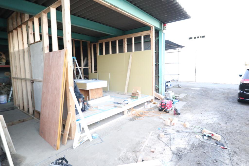 茨城県筑西市内にて仮住まいの工事が始まりました!