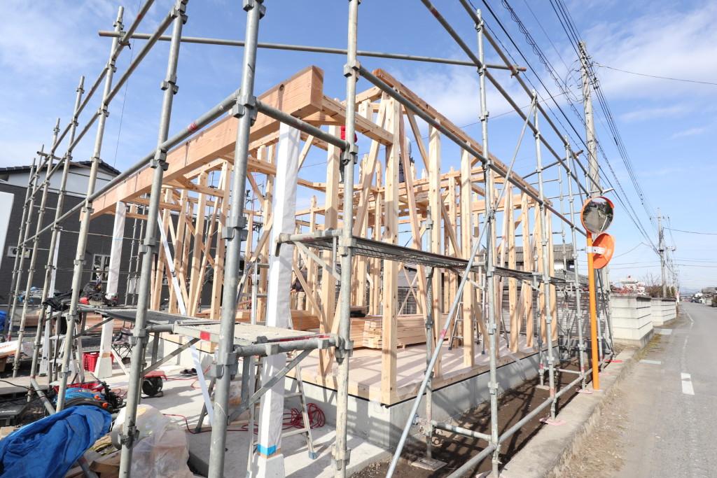 栃木県栃木市内にて「事務所新築工事」建方を行いました!