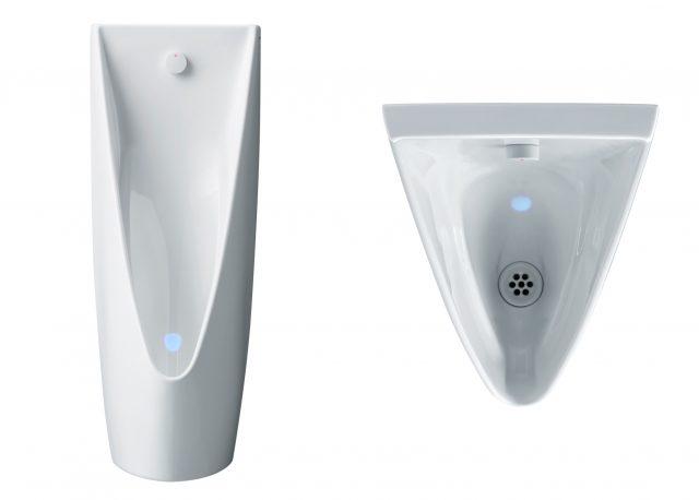 TOTOから、LED照射で尿はねを低減する最上位小便器が登場