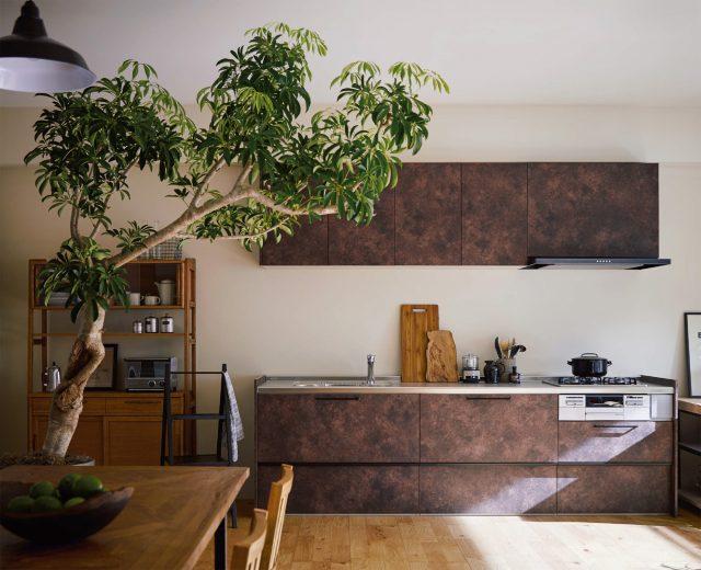クリナップから、普及価格帯キッチン「ラクエラ」にビンテージ調扉追加