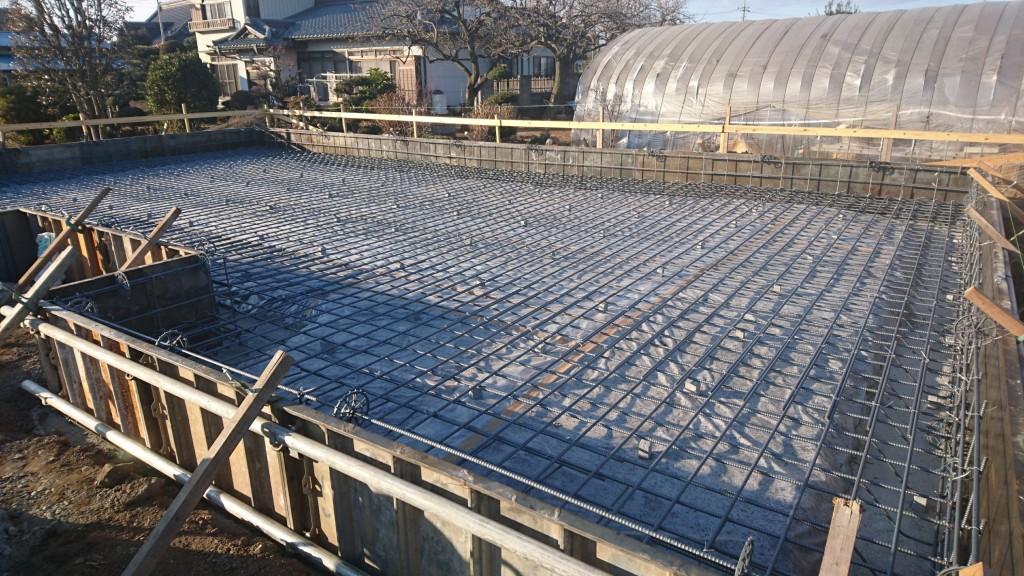 茨城県筑西市内にて「総タイル貼りの注文住宅」基礎工事進行中です!