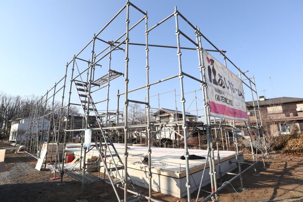 茨城県古河市「平屋」新築注文住宅、近日上棟予定!