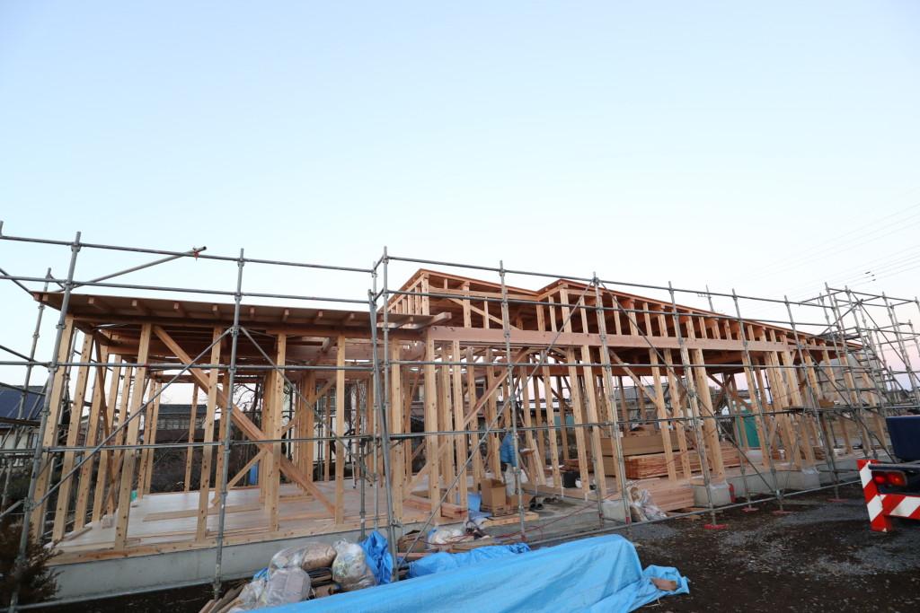 茨城県古河市注文住宅「スタイリッシュな平屋」上棟しました!