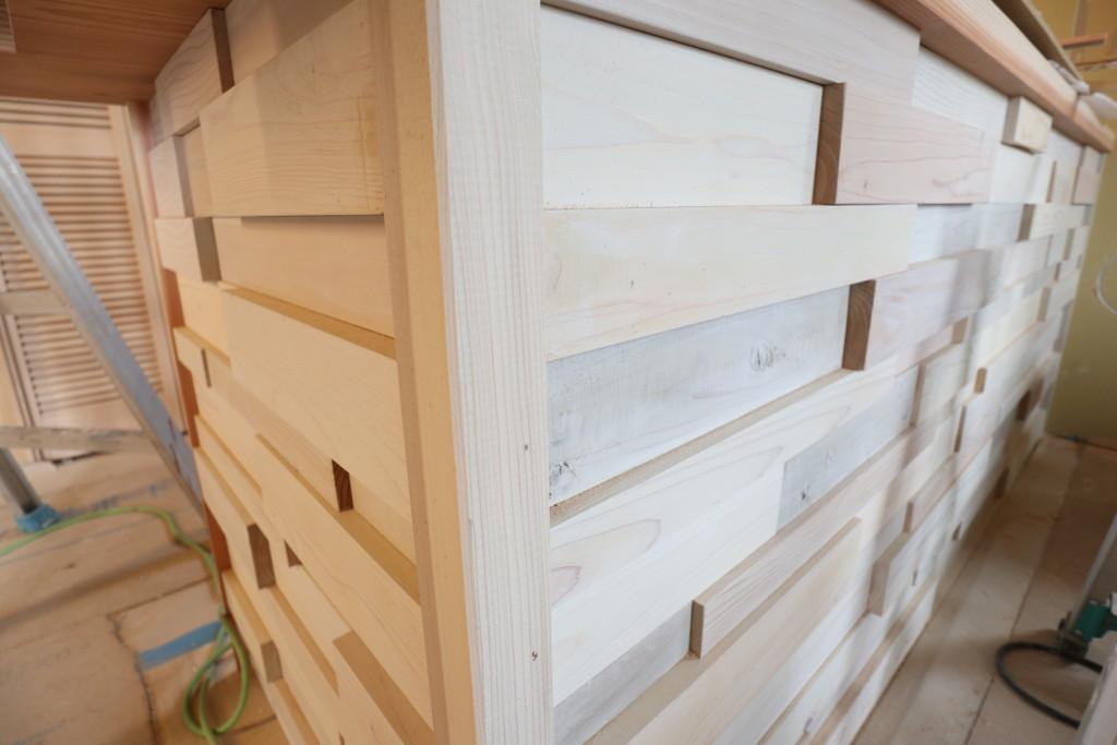 茨城県筑西市美容室「リフォーム二期工事」造作キッチン!