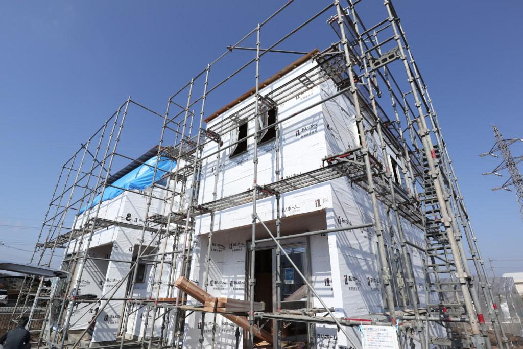 茨城県筑西市「総タイル貼りの注文住宅」躯体検査を行いました!