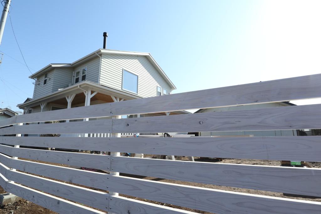 茨城県注文住宅「カルフォルニアスタイル」外構工事順調に進行しております!