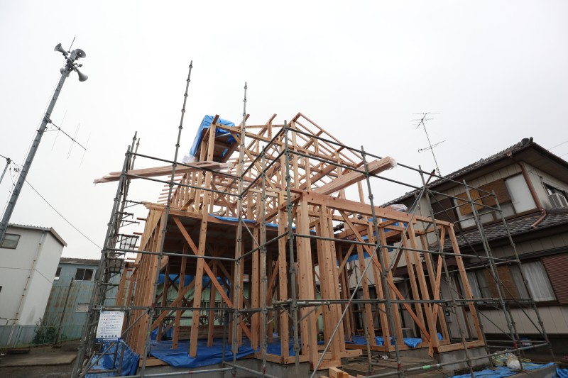 茨城県筑西市「和風な注文住宅」が本日上棟しました!