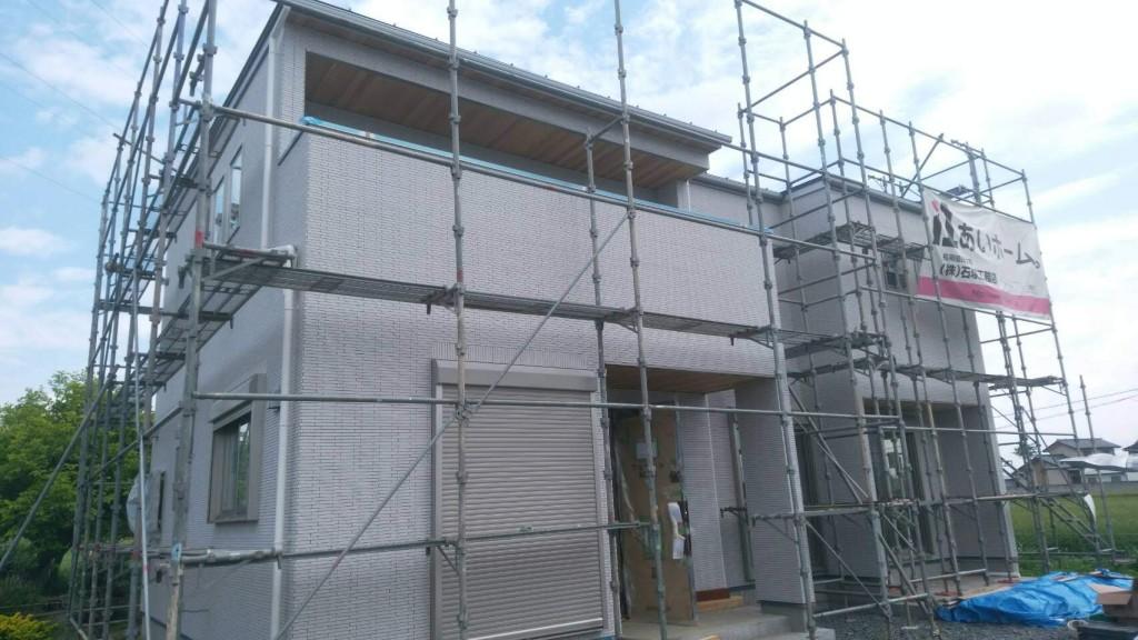 茨城県筑西市「総タイル貼りの注文住宅」順調に進行中です!