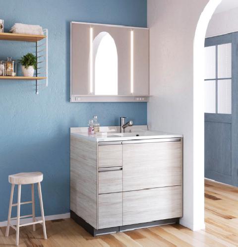 クリナップから、洗面化粧台「ティアリス」に片寄せボールカウンター追加へ