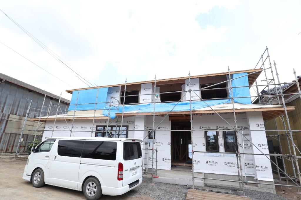 茨城県筑西市注文住宅「総タイル貼りの二世帯住宅」