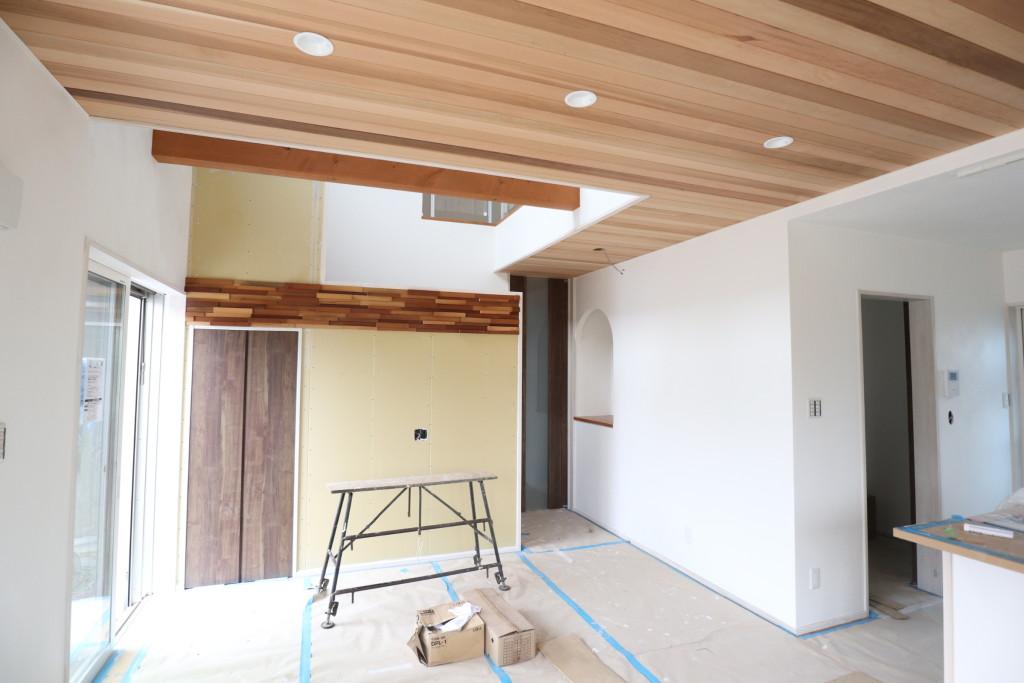 茨城県筑西市新築、「総タイル貼りの注文住宅」完成が近づいてきました!