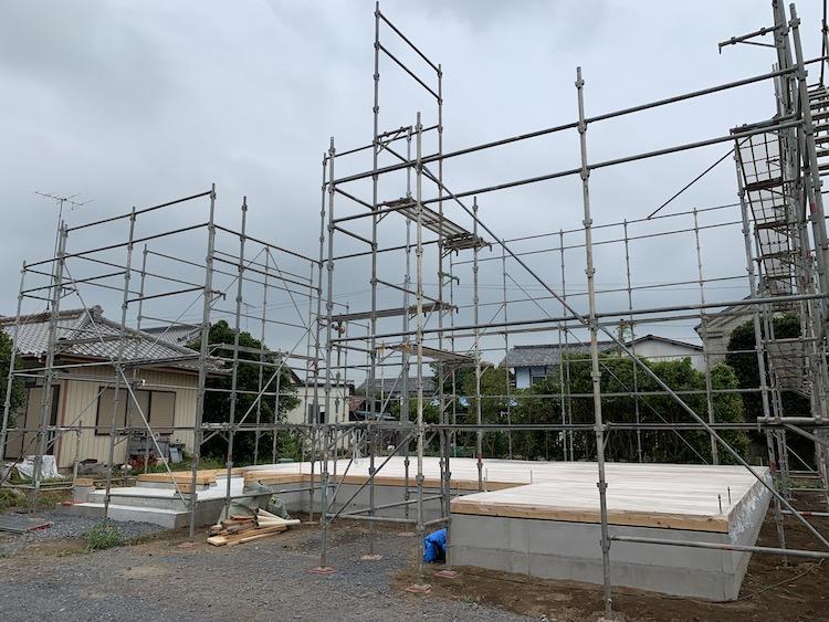 茨城県筑西市注文住宅「吹き抜けのある家」明日上棟予定!
