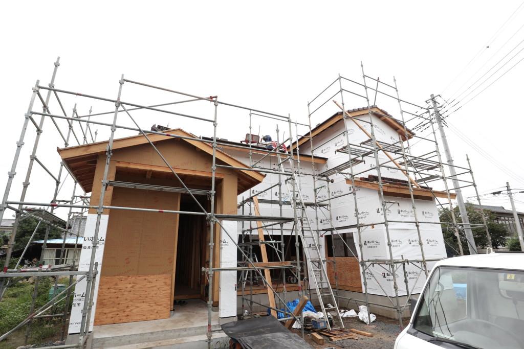 茨城県筑西市注文住宅「吹き抜けのある家」新築工事進行中です!