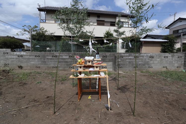茨城県注文住宅「カルフォルニアスタイル」地鎮祭を行いました!