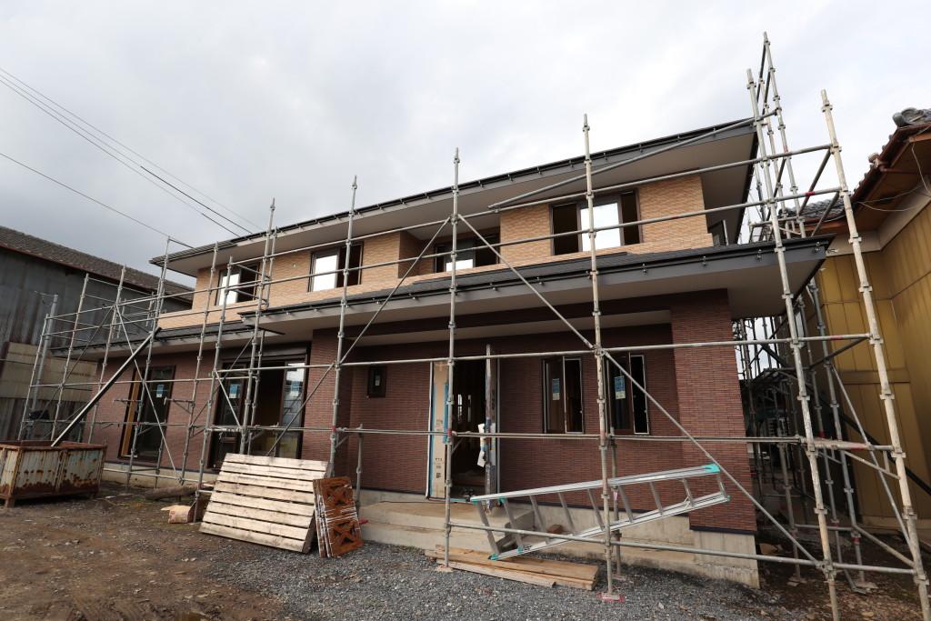 茨城県筑西市「総タイル貼りの二世帯注文住宅」新築工事進行中です!