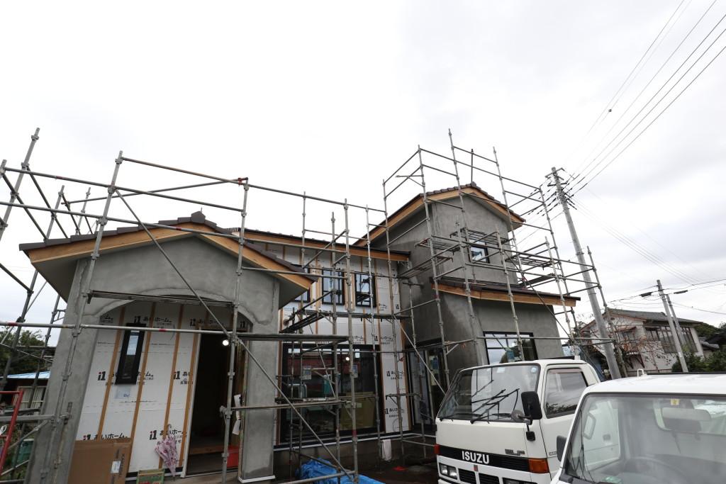 茨城県筑西市「吹き抜けのある注文住宅」建物の雰囲気が出てきました!
