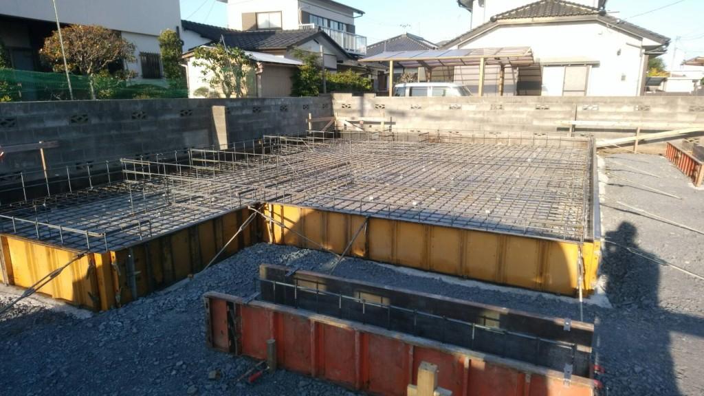 茨城県ひたちなか市「カルフォルニア風の注文住宅」基礎工事進行中です!