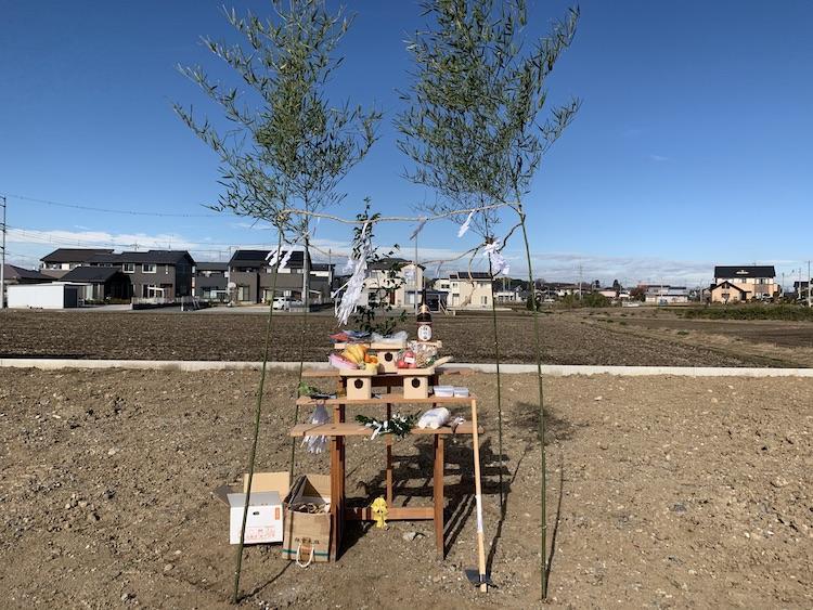 茨城県筑西市内にて注文住宅の地鎮祭を行いました!