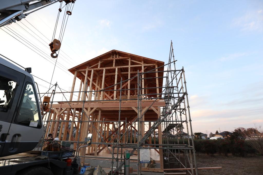 茨城県坂東市「カルフォルニアスタイルの注文住宅」上棟しました!