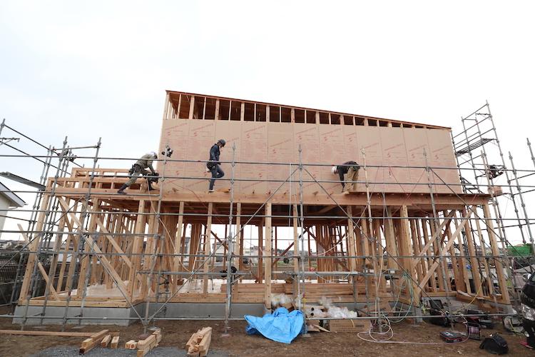 茨城県筑西市「スタイリッシュモダンな注文住宅」が本日上棟しました!