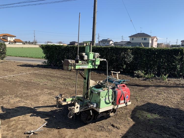 茨城県筑西市注文住宅「平屋」の地盤調査を行いました!