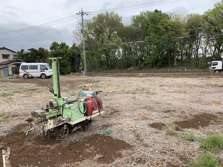 茨城県筑西市注文住宅「ナチュラルモダンな平屋」の地盤調査を行いました!