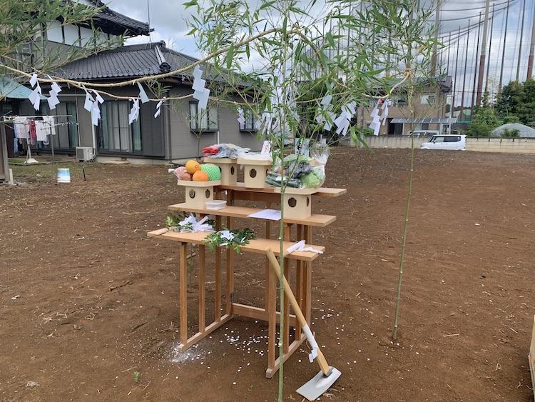 茨城県つくばみらい市「スパニッシュ風注文住宅」地鎮祭を行いました!