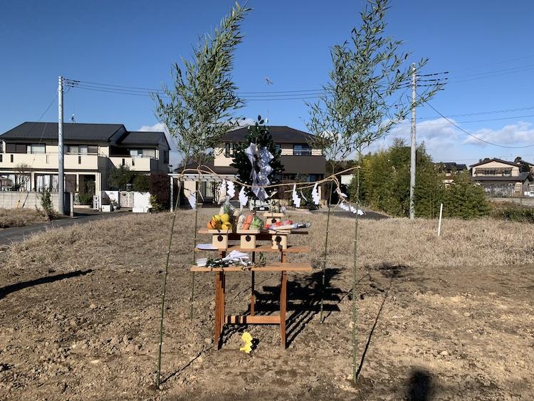 茨城県筑西市注文住宅の地鎮祭を行いました!