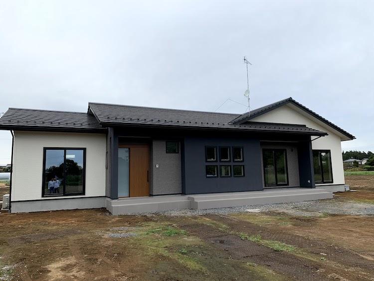 茨城県水戸市注文住宅「タイルデッキのある和モダン平屋」完成しました!