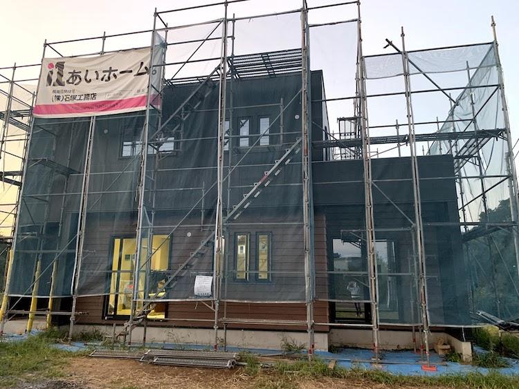 茨城県筑西市注文住宅「黒いガルバの家」外壁が貼り終わりました!